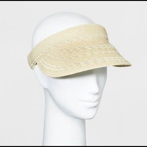 Women's Scallop Inset Clip On Visor - Natural